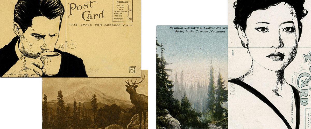 Twin Peaks en postales: Misterio ilustrado de Paul Willoughby | Ilustración