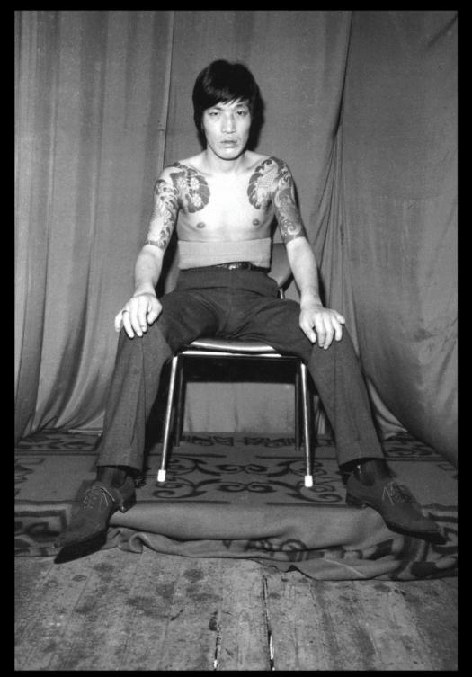 fotografía de un yakuza japones