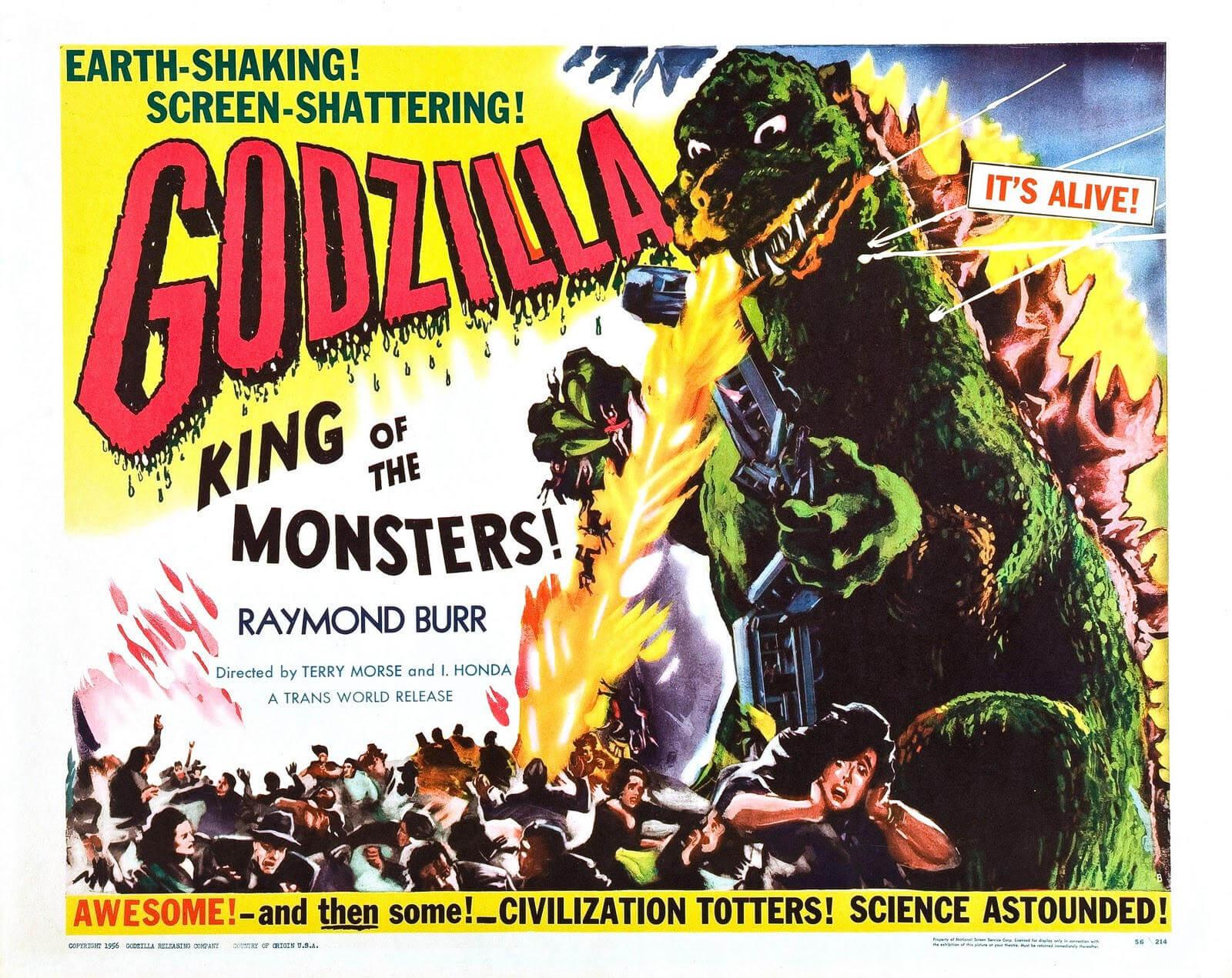 Godzilla rare awesome posterts oldskull 10-1