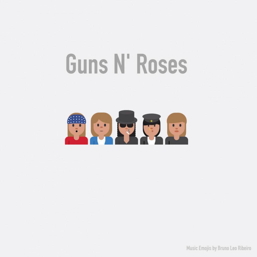 emojis de guns n roses