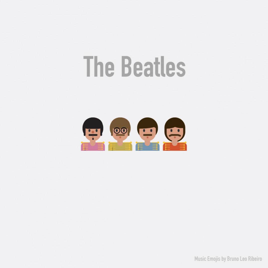emojis de los beatles