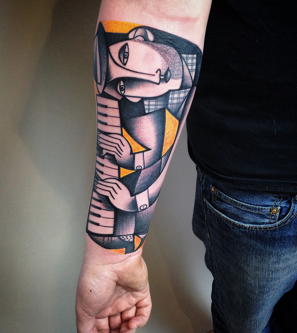 New Cubist Tattoos by Peter Aurisch(1)