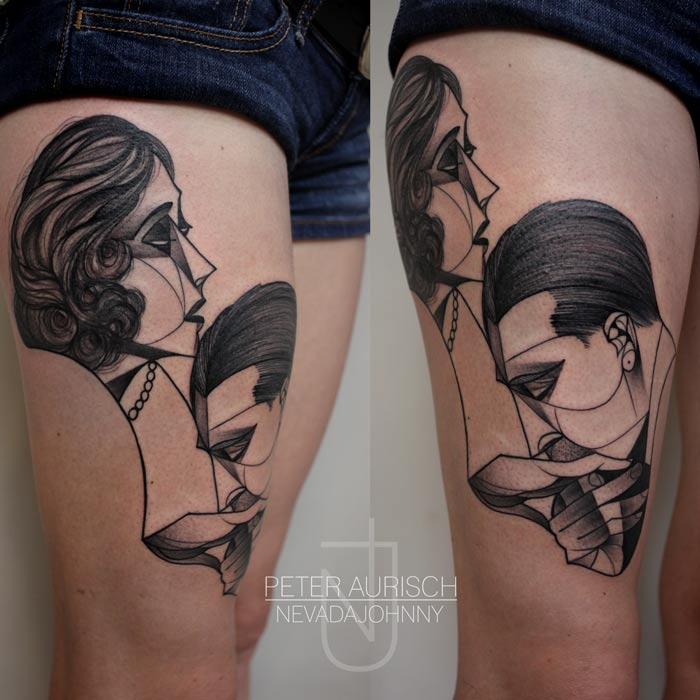 New Cubist Tattoos by Peter Aurisch(11)