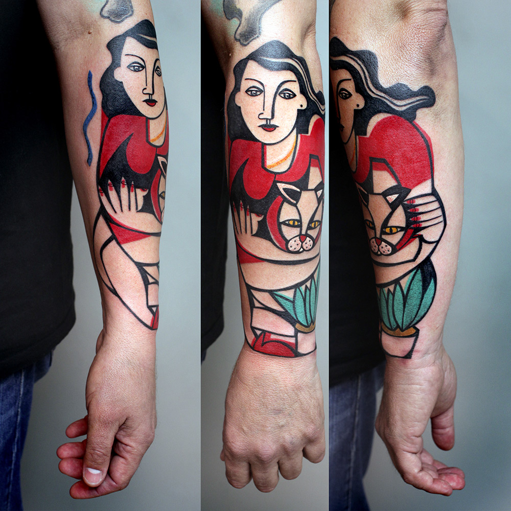 New Cubist Tattoos by Peter Aurisch(2)