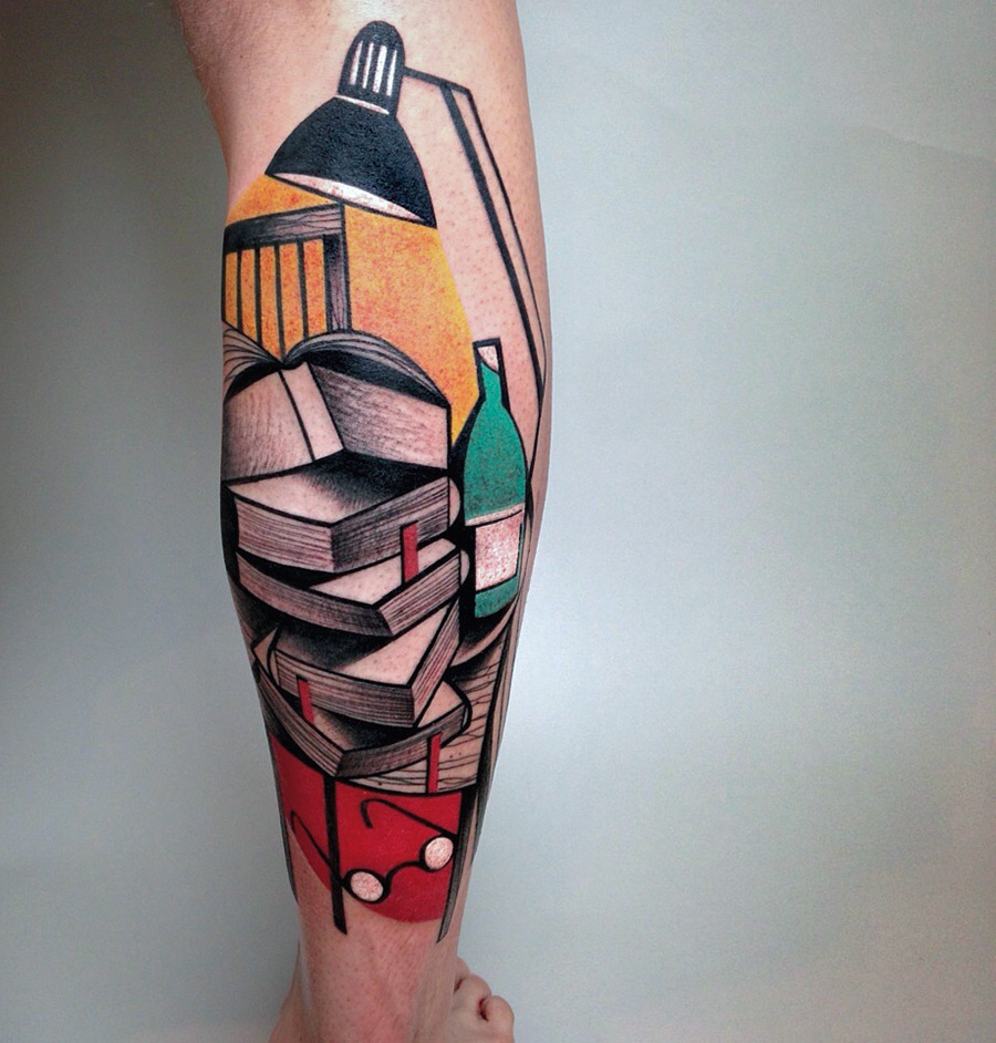 New Cubist Tattoos by Peter Aurisch(3)