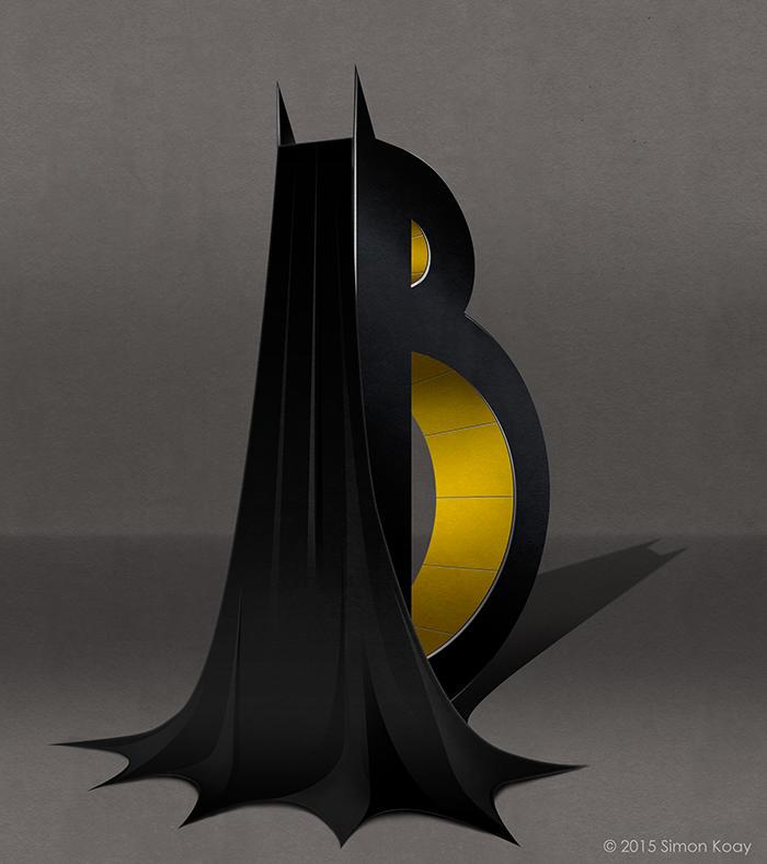 Logo de batman en forma de alfabeto