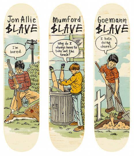 skate decks anti social slave oldskull 1