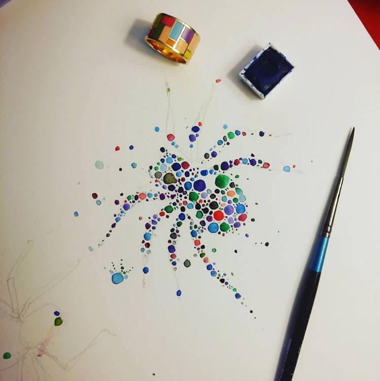 Ana Enshina arte a puntos oldskull 11
