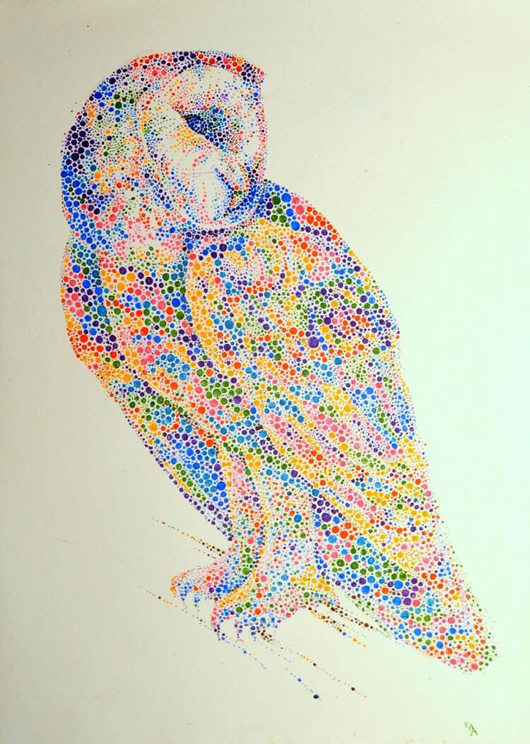 Ana Enshina arte a puntos oldskull 7