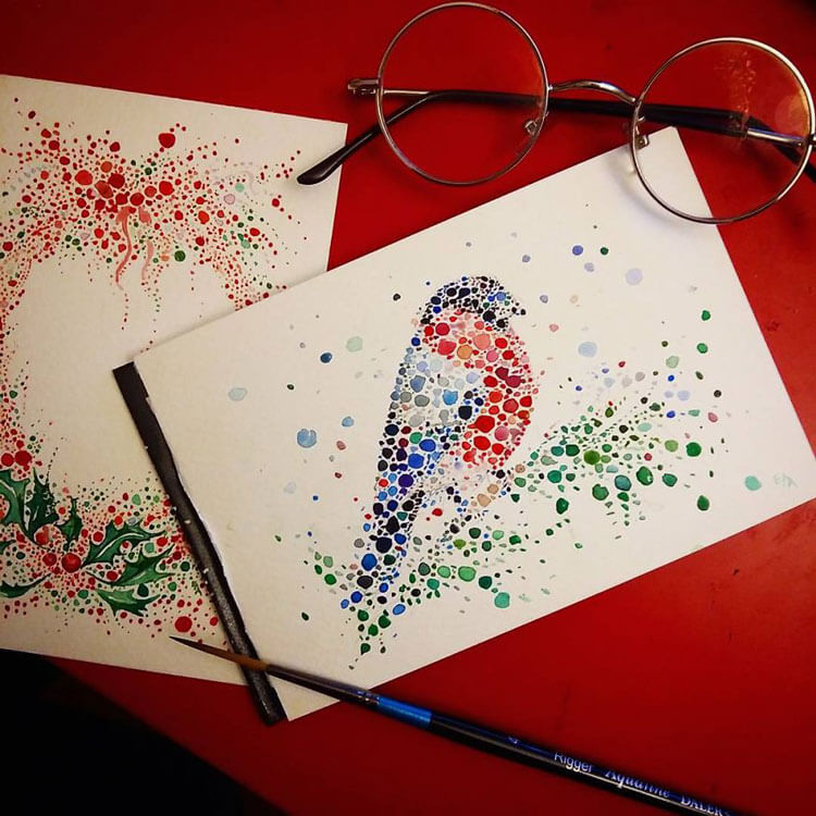 Ana Enshina arte a puntos oldskull 9