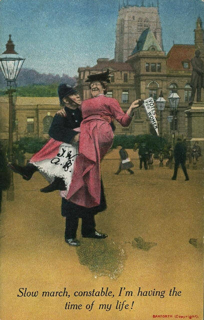 Propaganda Postcards Warn Men about the Dangers of Women's Rights from the Early 20th Century (1)