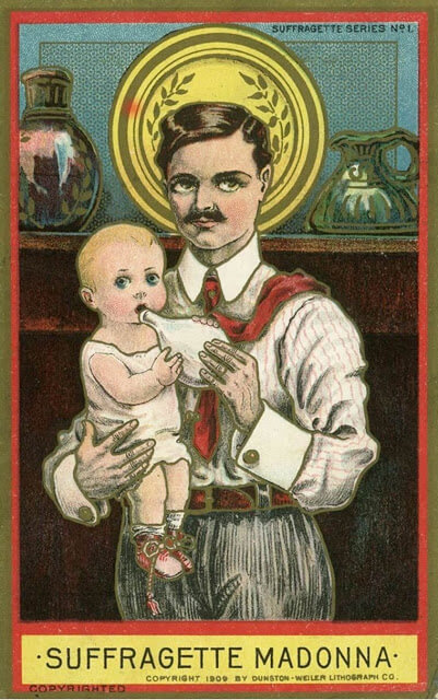 Propaganda Postcards Warn Men about the Dangers of Women's Rights from the Early 20th Century (22)
