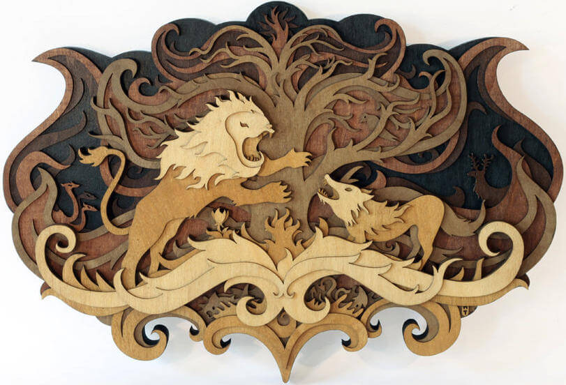 wood cutout sculpture by nartin tomsky
