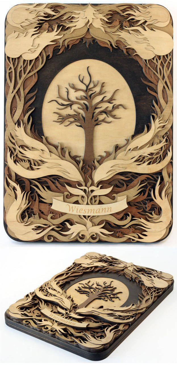 Splendid Wood Cutout Sculptures by Martin Tomsky (8)