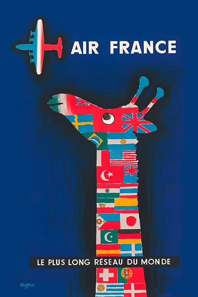 The Golden Age of Air Travel Beautiful Vintage Airline Posters - 10