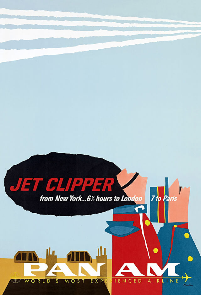 The Golden Age of Air Travel Beautiful Vintage Airline Posters - 12