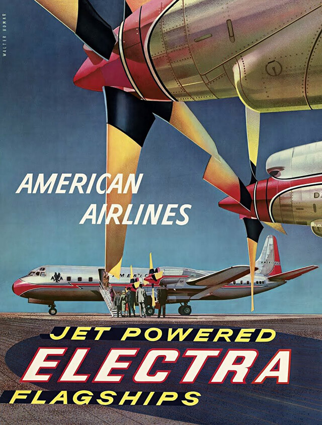 The Golden Age of Air Travel Beautiful Vintage Airline Posters - 13