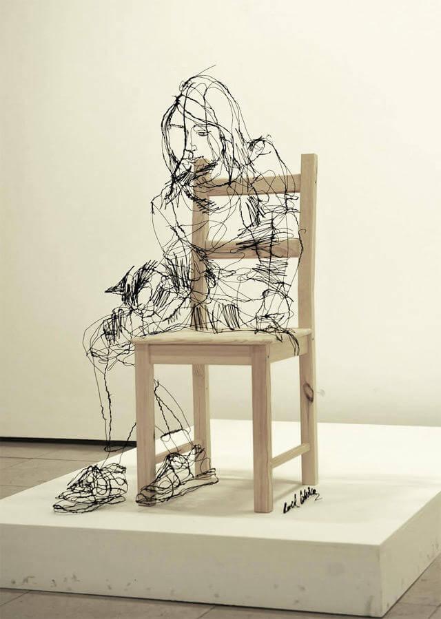 david oliveira sculpture wire oldskull 5