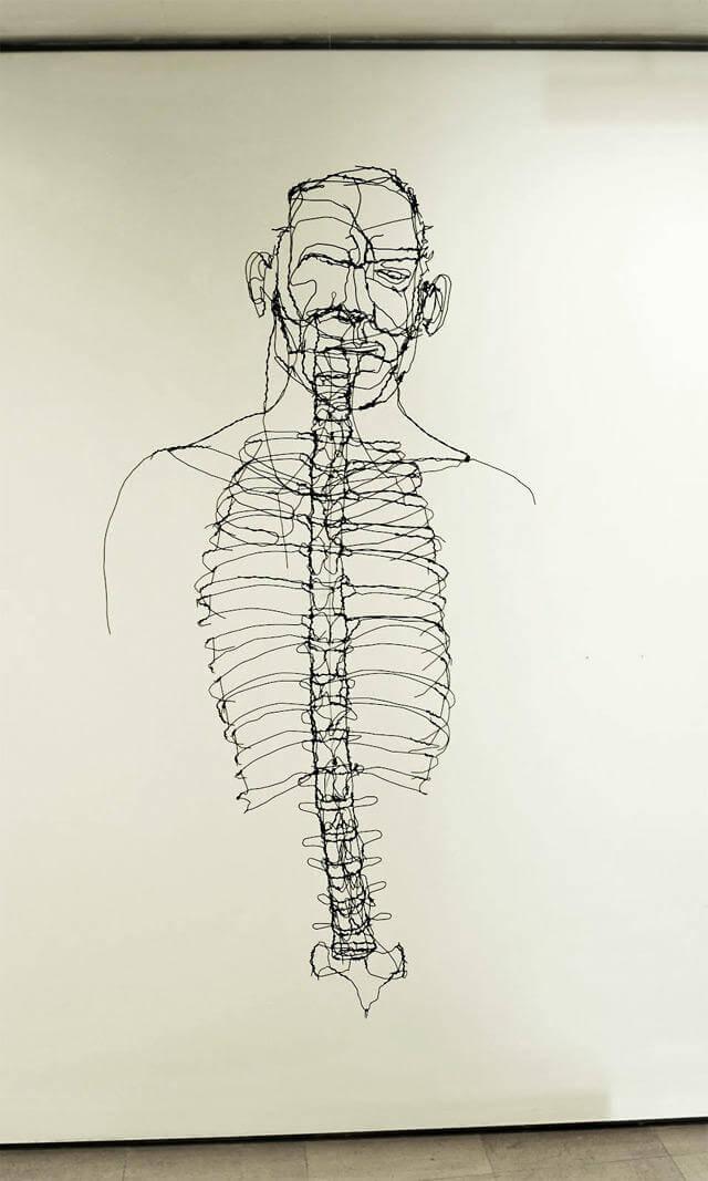 david oliveira sculpture wire oldskull 7