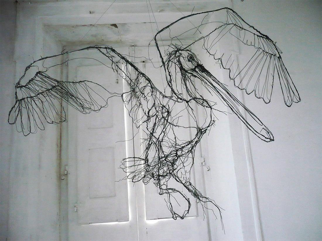 david oliveira sculpture wire oldskull 9
