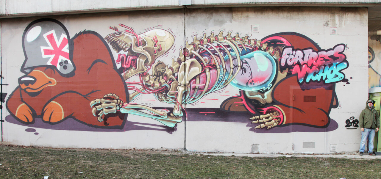 nychos street art illustration 10