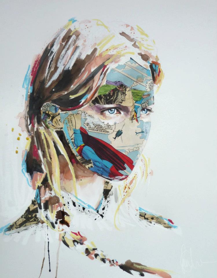 sandra chevrier comic painting oldskull 1