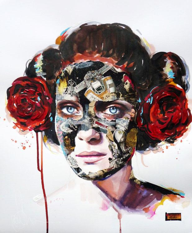 sandra chevrier comic painting oldskull 2-2