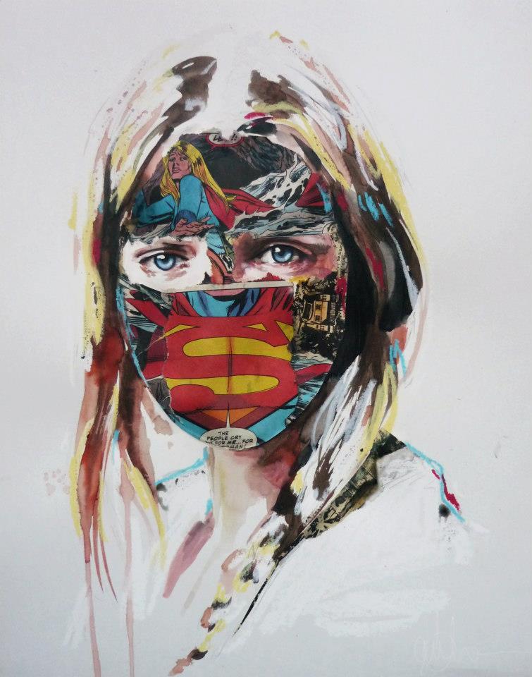 sandra chevrier comic painting oldskull 2