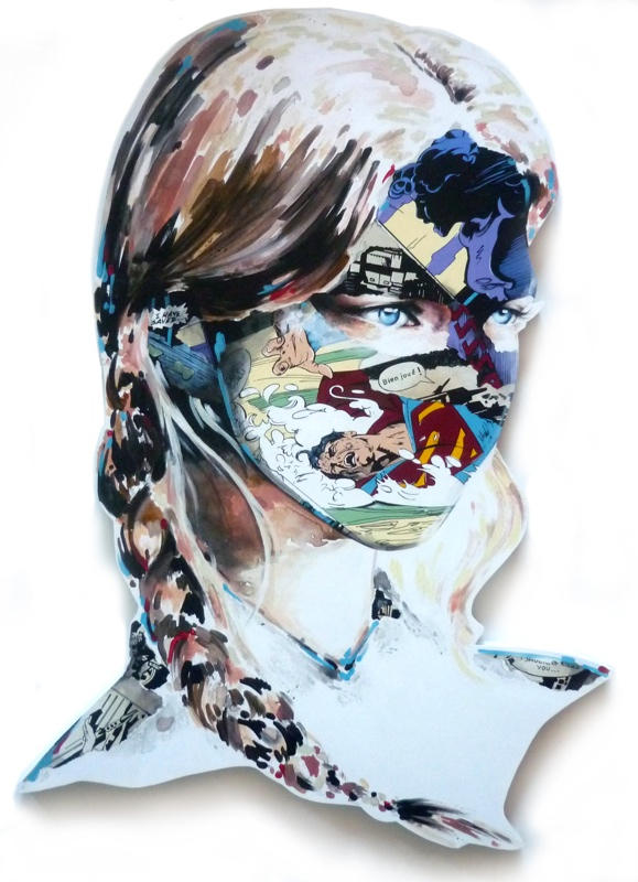 sandra chevrier comic painting oldskull 7
