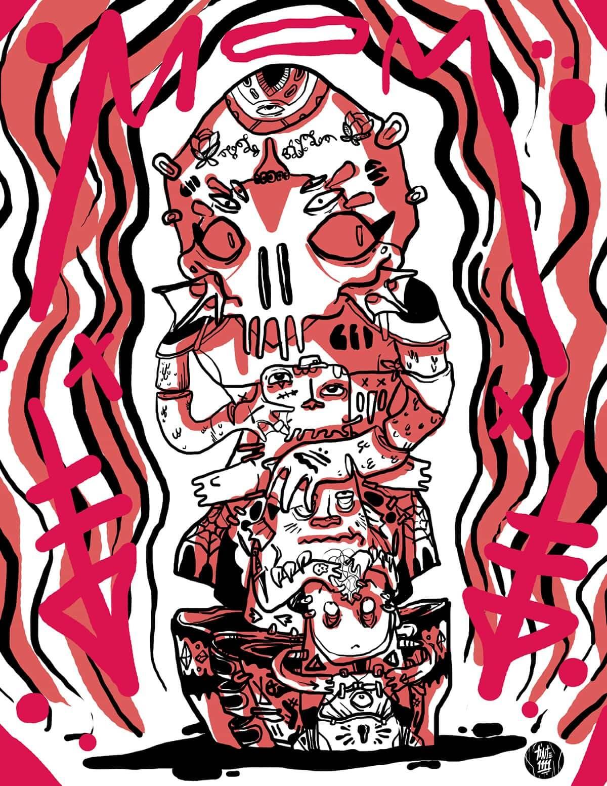 tinte1111 ilustracion oldskull 1