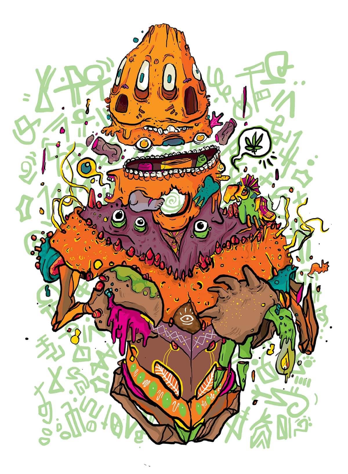 tinte1111 ilustracion oldskull 3-2
