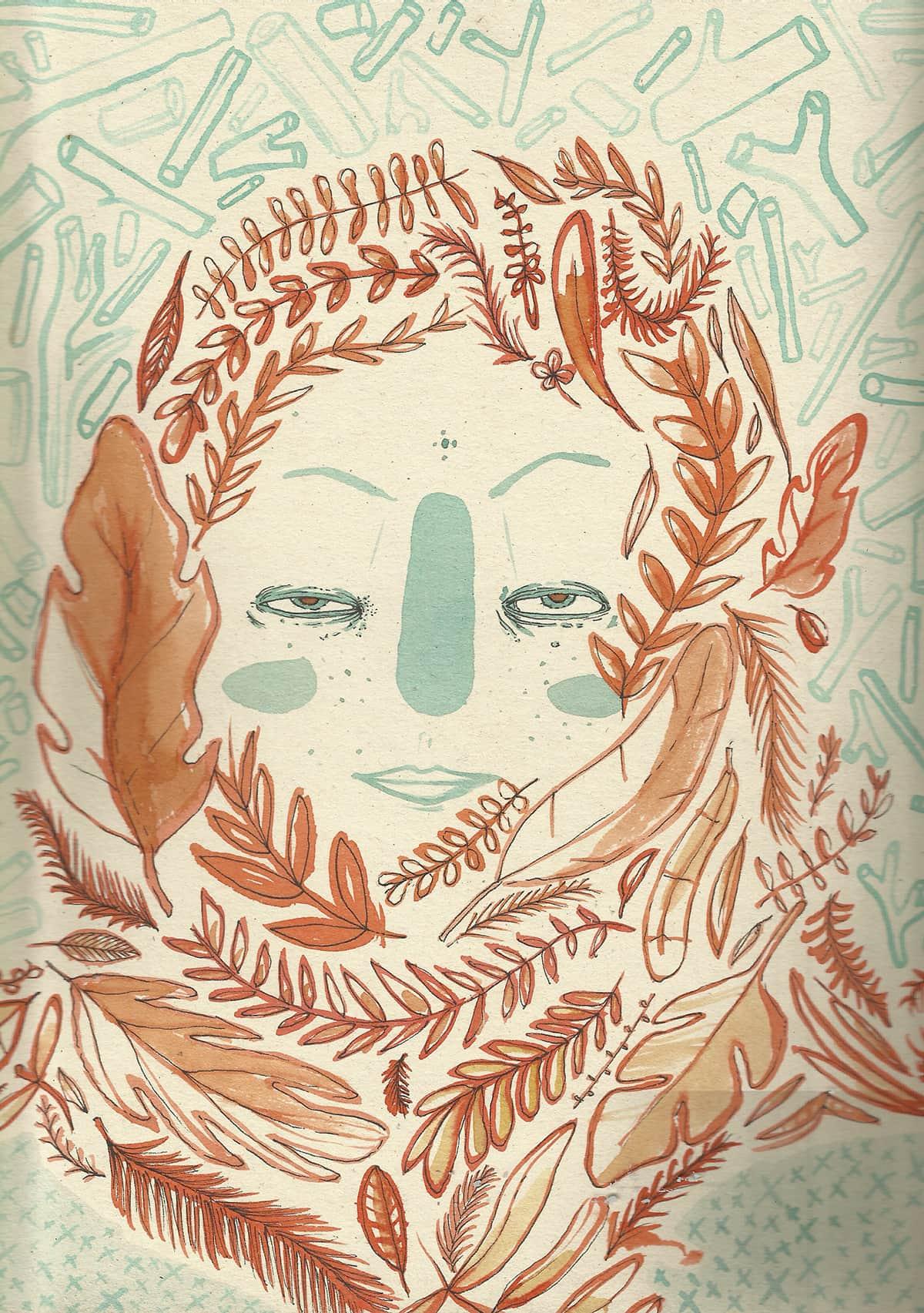 tinte1111 ilustracion oldskull 3