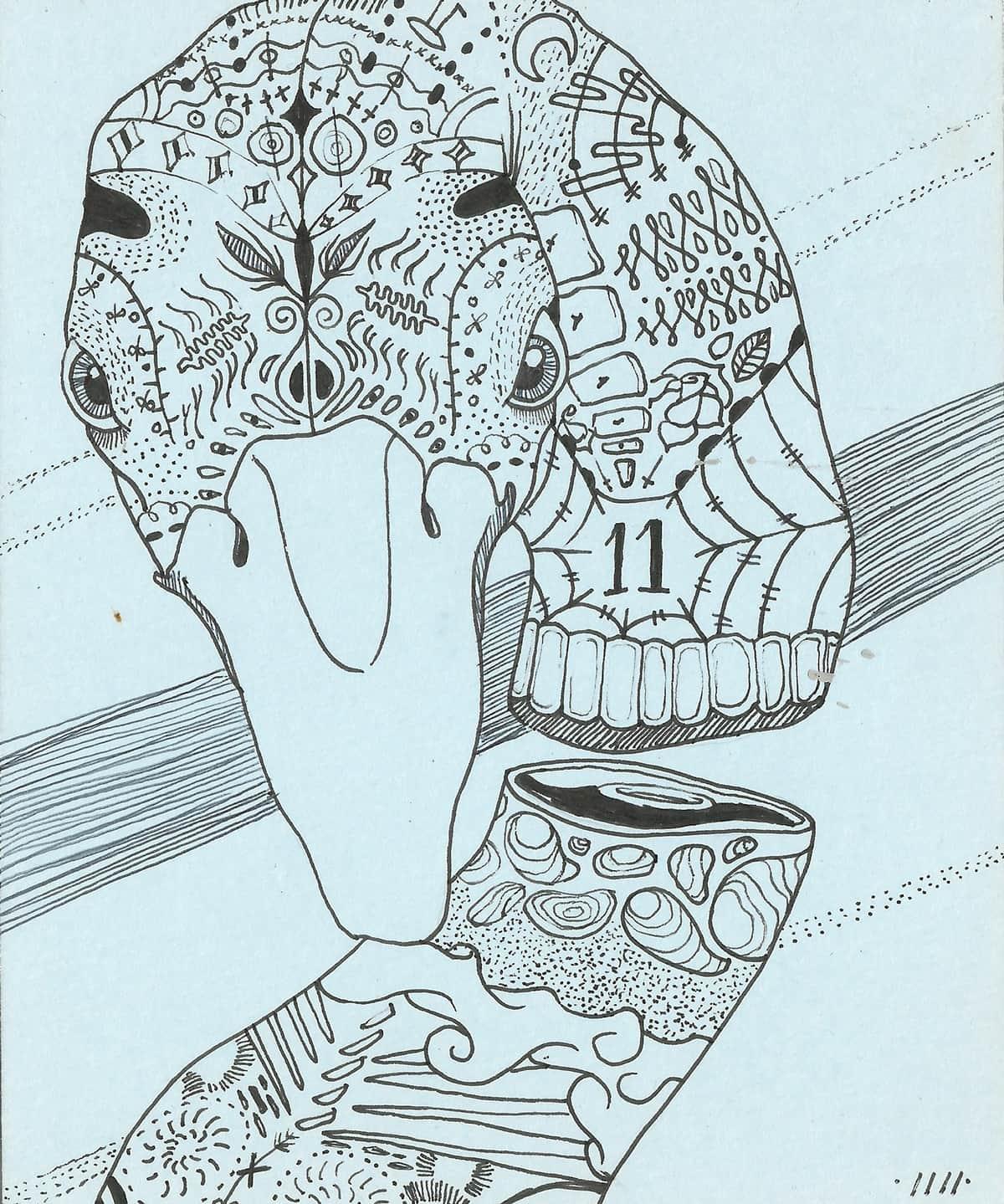 tinte1111 ilustracion oldskull 5