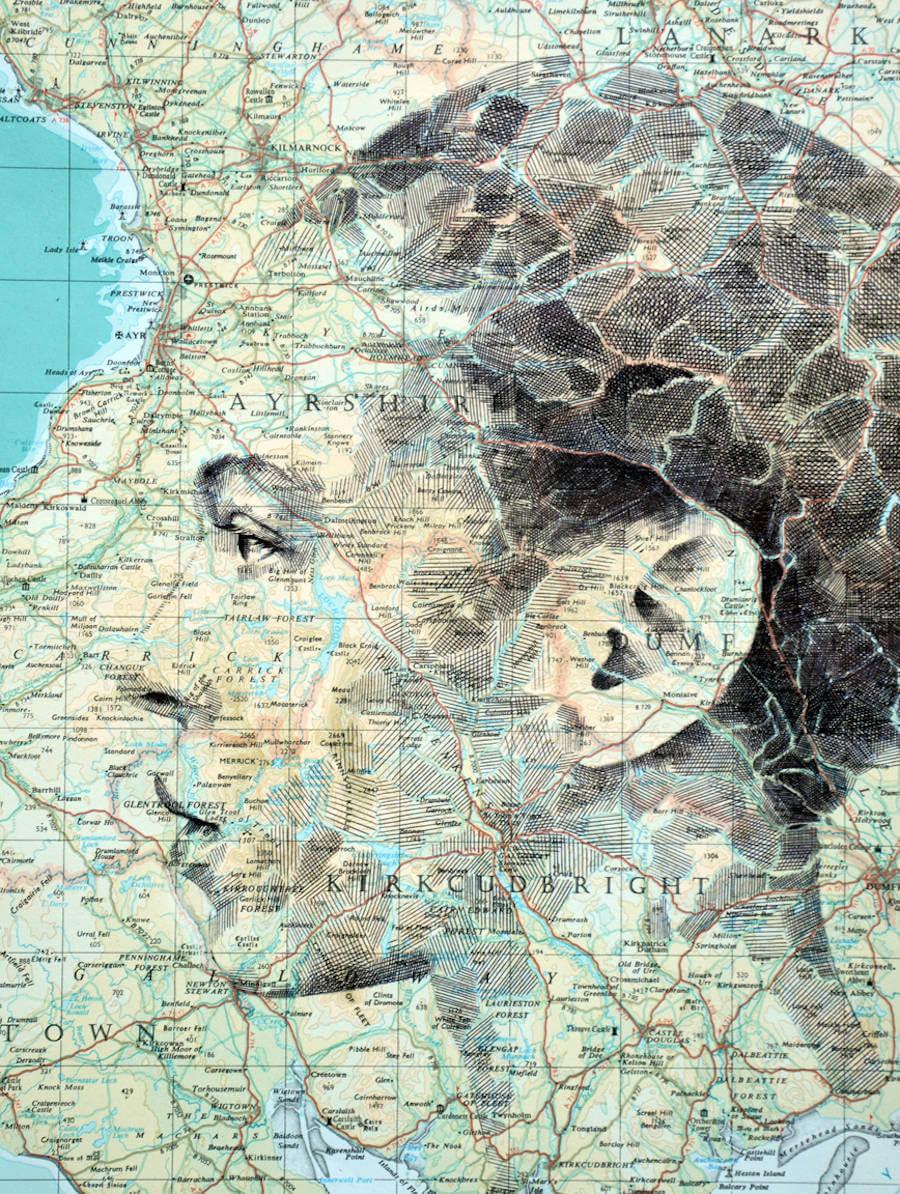 Portraits Drawn on Maps by Ed Fairburn  (7)