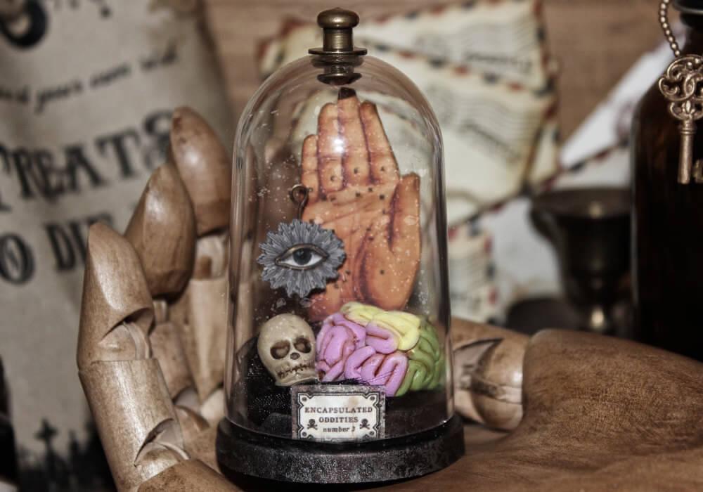esculturas en miniatura grotescas oldskull 3