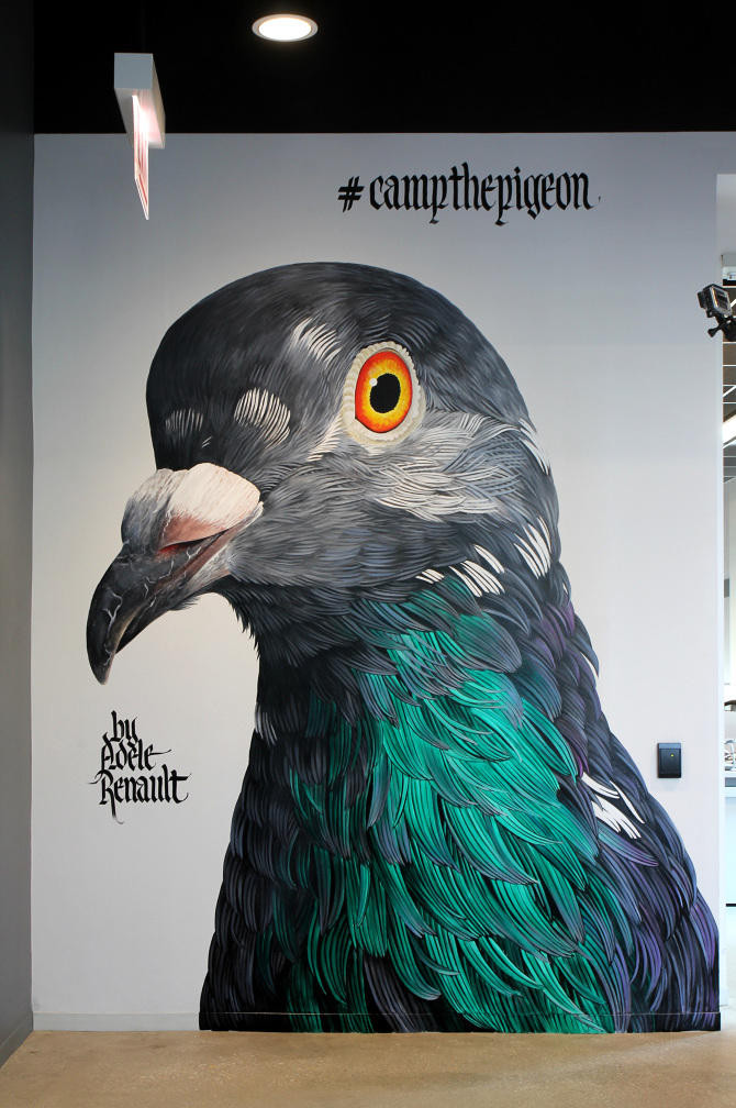 Adele Renault Paints Incredibly Realistic Pigeon (11)