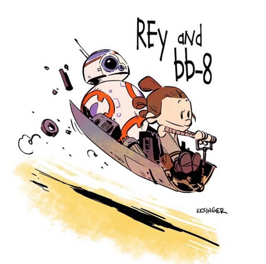 Star Wars Meets Calvin and Hobbes Comics  (6)