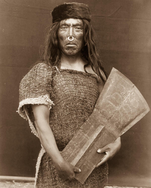 Retrato de jefe indio americano