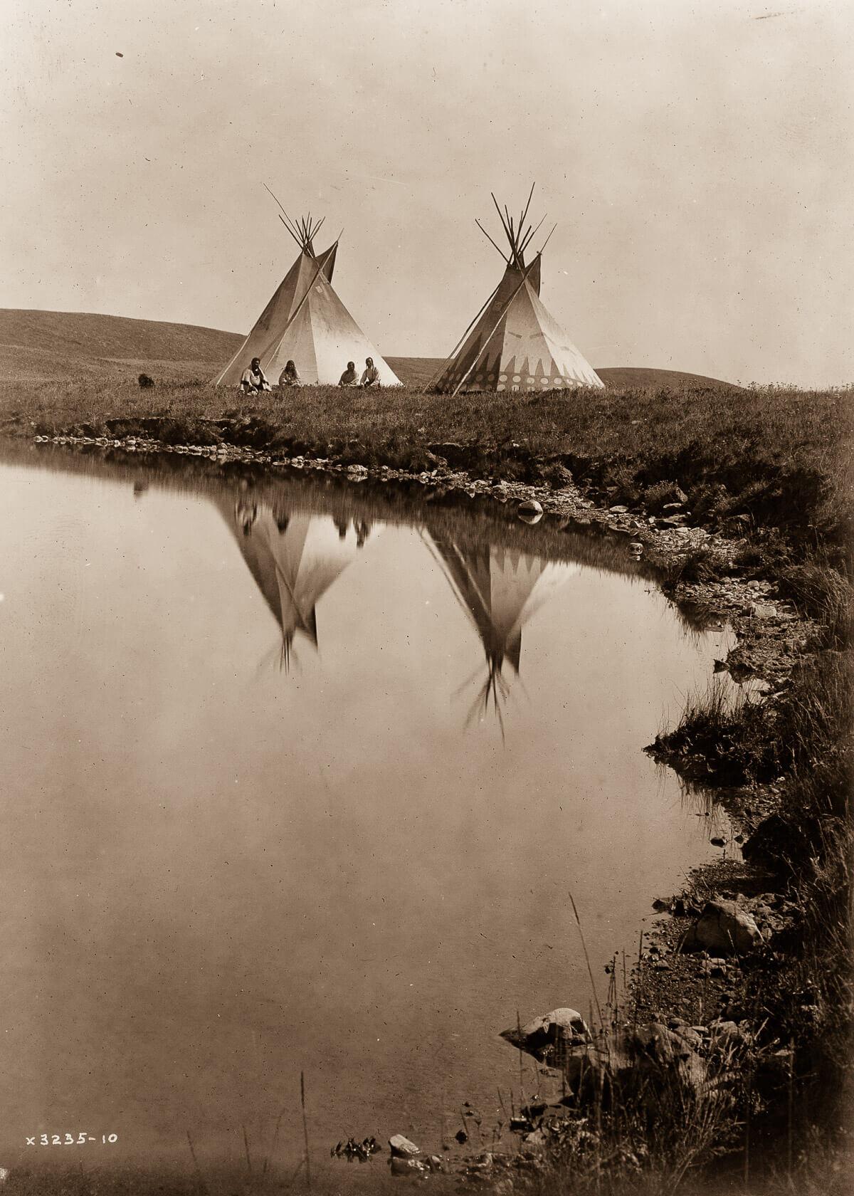 Tiendas de campaña indias americanas en 1907