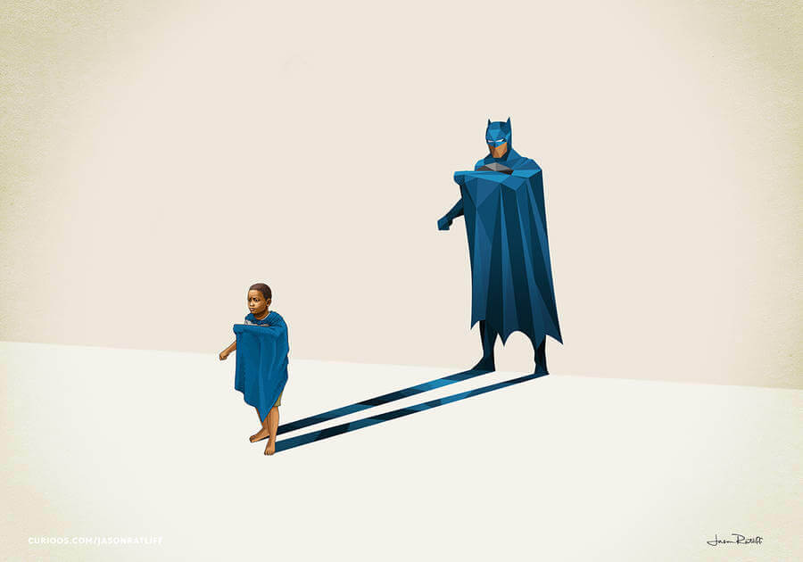 New Children's Superheroes Shadows Posters (3)