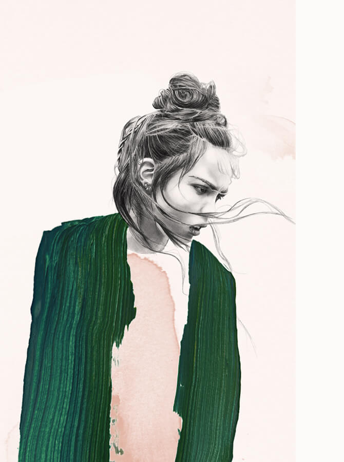 lucie biriant fashion illustraion oldskull 2