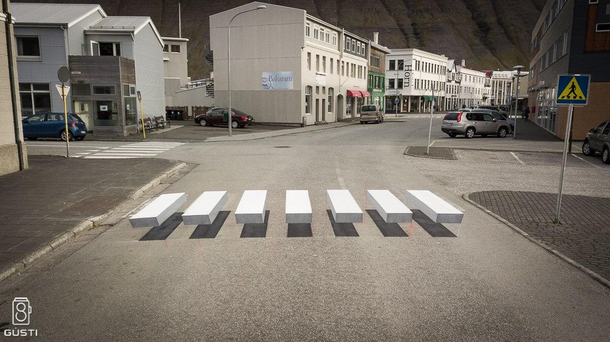 La ilusión óptica llega a las calles de Islandia | Diseño gráfico