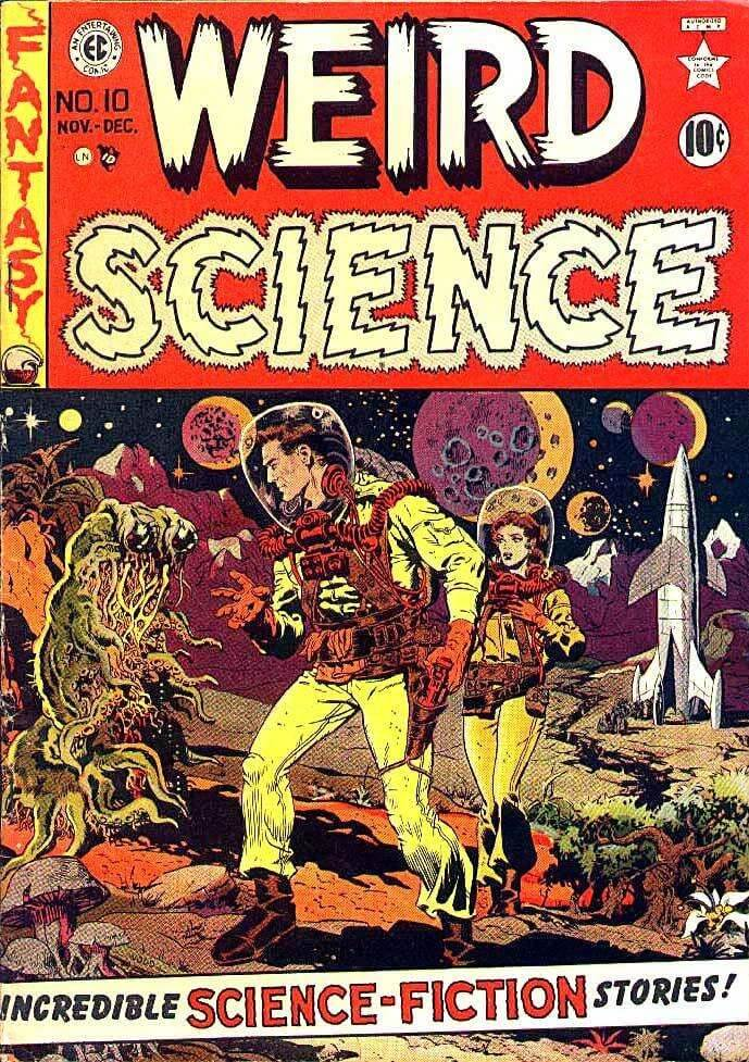 Weird science portada de wally wood