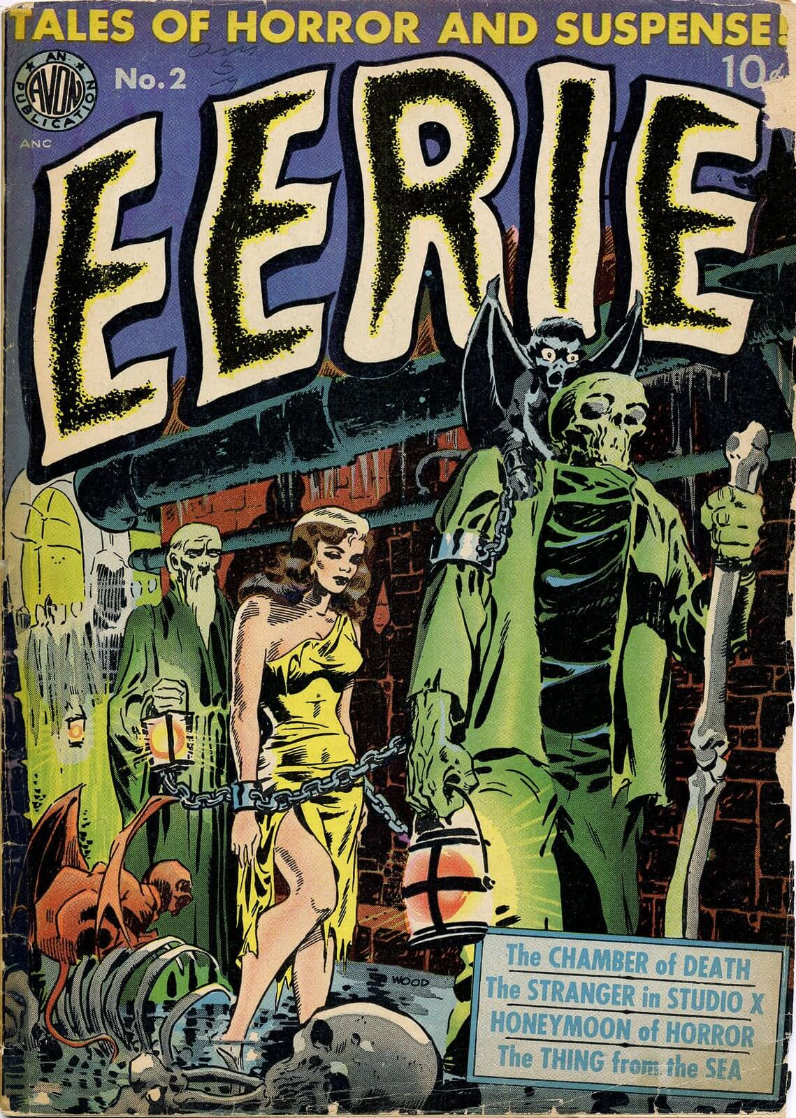 Comic cover eerie de wally wood pulp