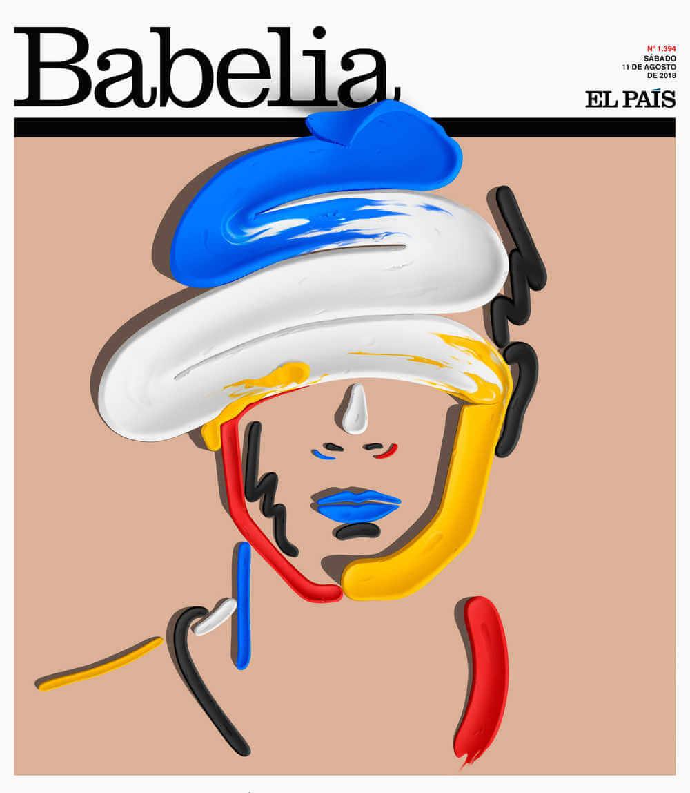 Portada de suplemento babelia de el pais diseñada con efecto plastilina