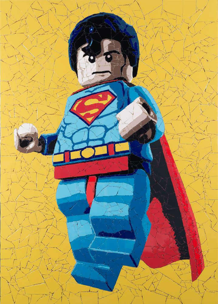 Mosaico de lego superman hecho por jason dussault