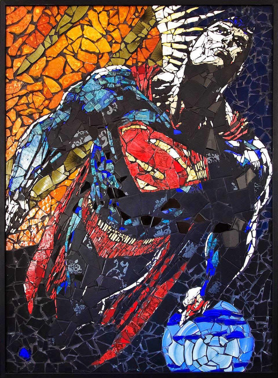 Mosaico tradicional de superman