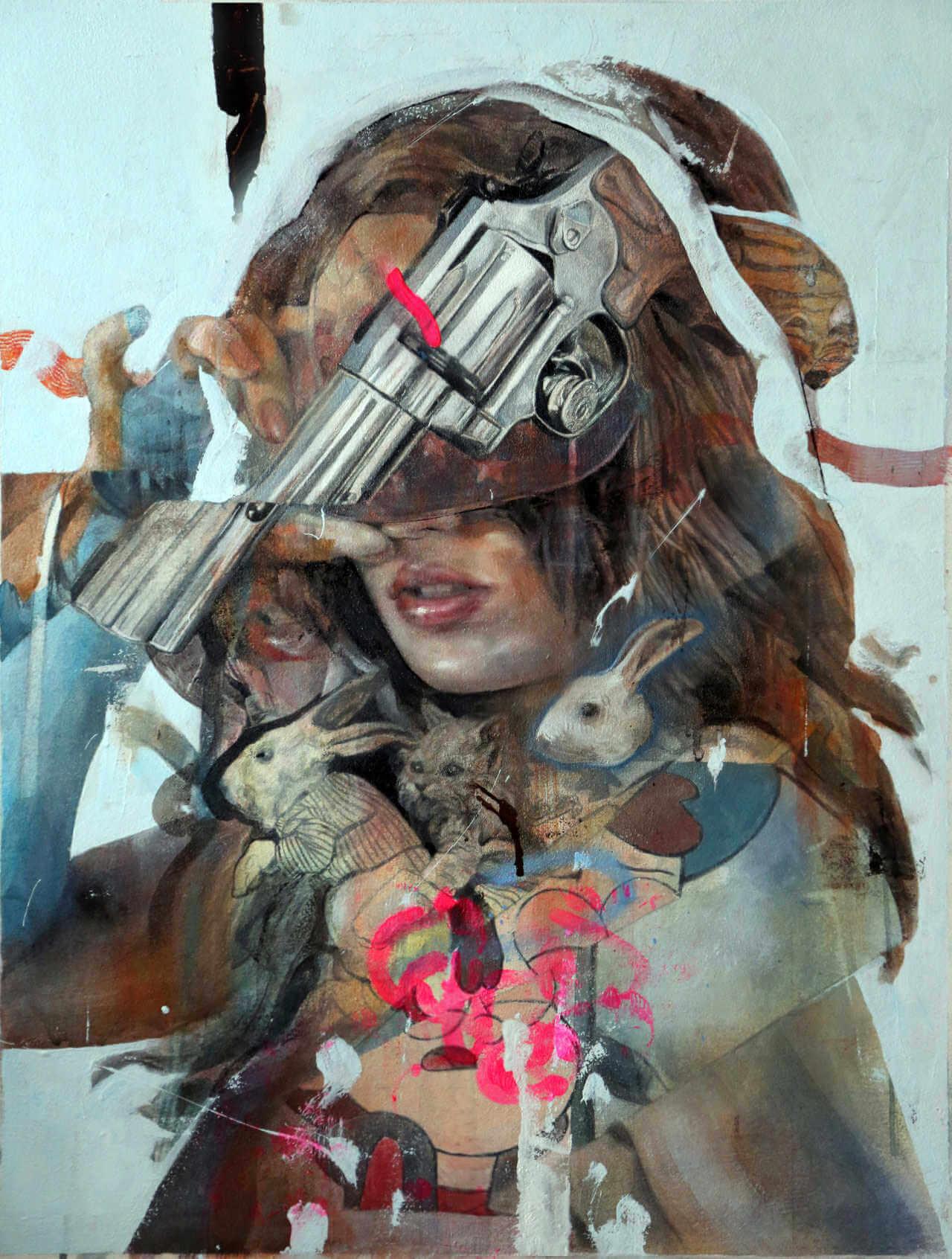 Pintura abstracta de Benjamín García