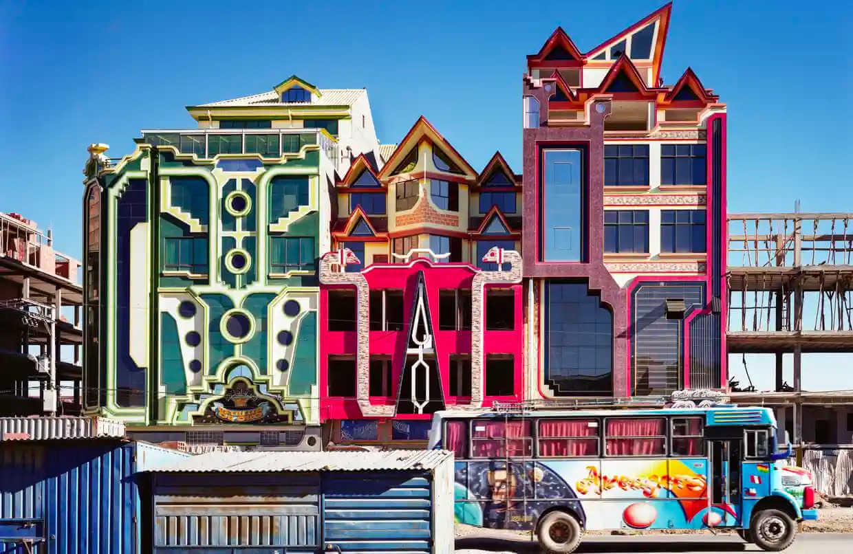 Freddy mamani colorida arquitectura en bolivia