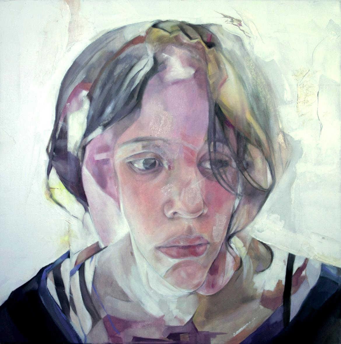 Pintura de la cara de un niño de Benjamín García